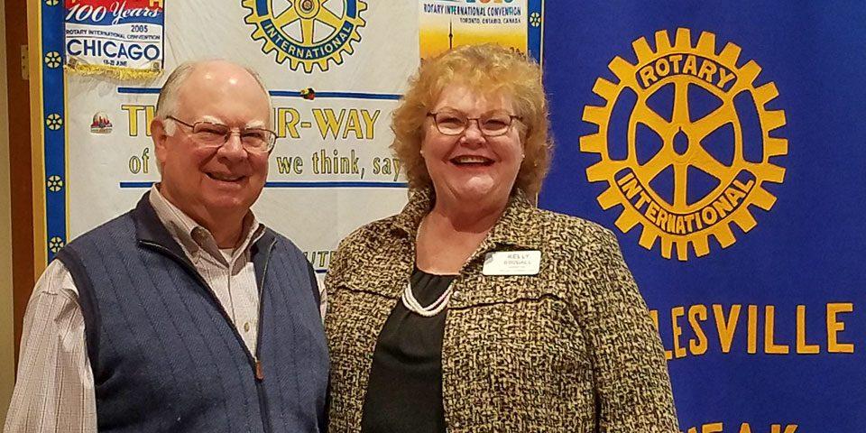 Kelley Goodall and Senator John Ford at Rotary